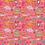Birthday background on pink Stock Photo