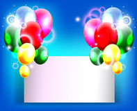 Birthday background with place for text Stock Photography