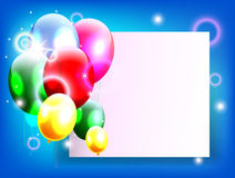 Birthday background with place for text Stock Photo