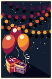Birthday background with presents and balloons Royalty Free Stock Image