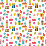 Birthday background. Seamless pattern with colorful gift boxes  Royalty Free Stock Photography