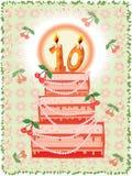 Birthday Background With Cake Stock Image
