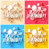 Birthday backgrounds Royalty Free Stock Images