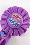 Birthday badge. Worn to let everyone know today is your birthday Royalty Free Stock Photos