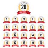 Birthday badge label set. Vector Royalty Free Stock Photography