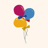 Birthday ballon theme elements vector,eps Stock Photography