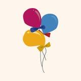 Birthday ballon theme elements vector,eps. Vector illustration file Stock Photography
