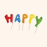 Birthday ballon theme elements vector,eps. Vector illustration file Royalty Free Stock Photo