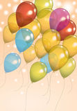 Birthday Balloon Background Royalty Free Stock Photo