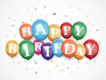 Birthday balloon background Royalty Free Stock Image