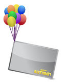 Birthday balloon banner illustration design Royalty Free Stock Images