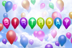 Birthday balloon colorful balloons Royalty Free Stock Photography