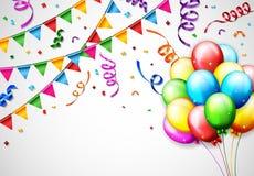 Birthday Balloon With Confetti Background Royalty Free Stock Photo
