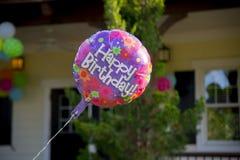 Birthday Balloon. Happy birthday Balloons flying outdoors Stock Images