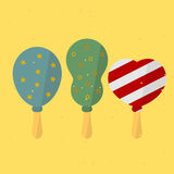 Birthday Balloon. On a stick. vector format Royalty Free Stock Photos