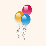 Birthday balloon theme elements Royalty Free Stock Image