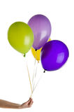 Birthday balloons. Isolated over white background Royalty Free Stock Photography