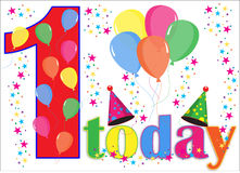 Birthday Balloons Background 1 today Royalty Free Stock Images