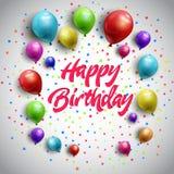Birthday balloons background Royalty Free Stock Photos