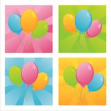 Birthday balloons backgrounds Stock Images