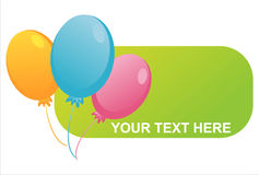 Birthday balloons banner Royalty Free Stock Image