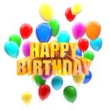 Birthday balloons Stock Photography