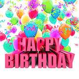 Birthday balloons Royalty Free Stock Photography