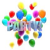 Birthday balloons Stock Photo