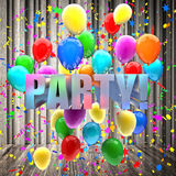 Birthday balloons Royalty Free Stock Photos