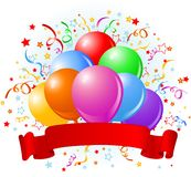 Birthday balloons design Royalty Free Stock Images