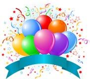 Birthday balloons design Stock Photos