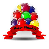Birthday balloons design Royalty Free Stock Photography