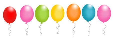 Birthday balloons divider Royalty Free Stock Photography
