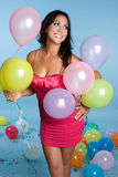 Birthday Balloons Girl Stock Images