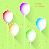 Birthday balloons, vector Stock Image