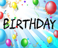Birthday Balloons Indicates Party Celebrate And Cheerful Stock Photo