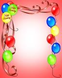 Birthday Balloons Invitation royalty free stock photography