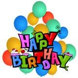 Birthday with balls. Royalty Free Stock Photos