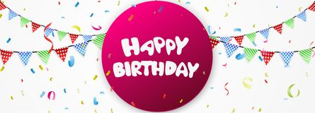 Birthday banner Stock Images