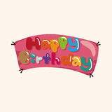 Birthday banner theme elements Royalty Free Stock Photo