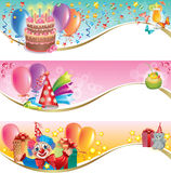 Birthday banners Stock Images