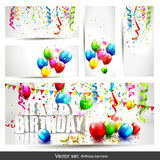 Birthday banners - big collection Royalty Free Stock Photography