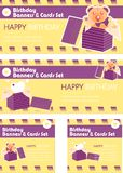 Birthday banners cards tags Stock Photos