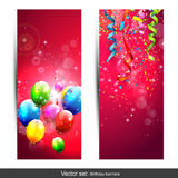 Birthday banners Royalty Free Stock Image