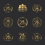 25 birthday banners. Vector. 25 birthday banners. Vector illustration Stock Images