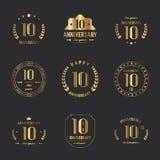 10 birthday banners. Vector. 10 birthday banners. Vector illustration royalty free illustration