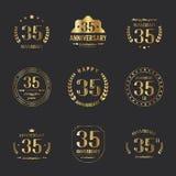 35 birthday banners. Vector. 35 birthday banners. Vector illustration Stock Photography