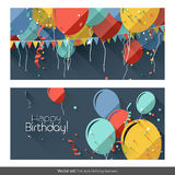 Birthday banners Royalty Free Stock Photos