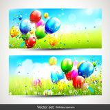 Birthday banners Stock Photography