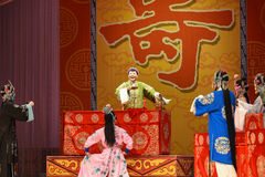 """Birthday banquet- Beijing Opera"""" Women Generals of Yang Family"""". This opera tells a patriotic story how does an old woman of a hundred years old go Stock Photo"""